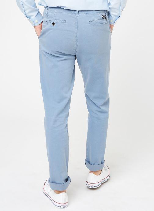 Kläder Cuisse de Grenouille PANTS - CHINO WASHED Blå bild av skorna på