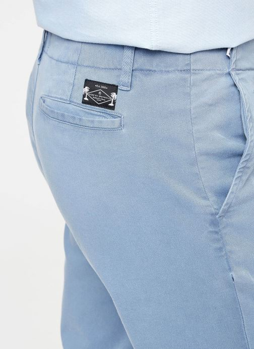 Kläder Cuisse de Grenouille PANTS - CHINO WASHED Blå bild från framsidan