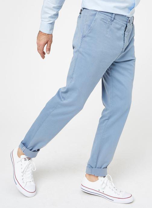 Kläder Cuisse de Grenouille PANTS - CHINO WASHED Blå detaljerad bild på paret