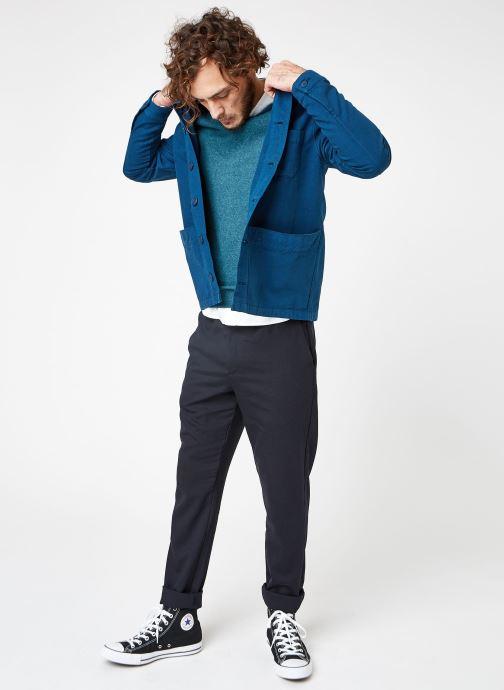 Vêtements Cuisse de Grenouille JACKET - THICK TWILL Bleu vue bas / vue portée sac
