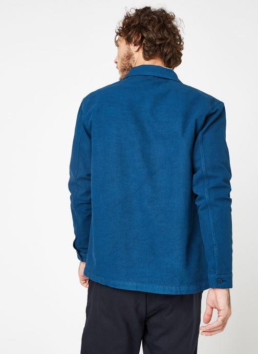 Vêtements Cuisse de Grenouille JACKET - THICK TWILL Bleu vue portées chaussures