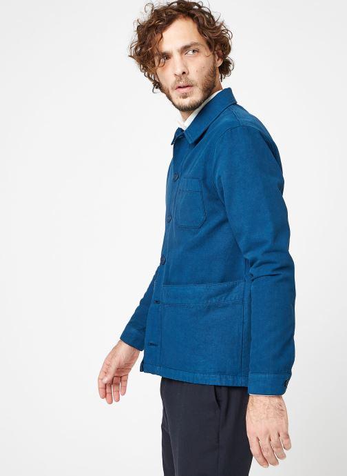 Vêtements Cuisse de Grenouille JACKET - THICK TWILL Bleu vue droite