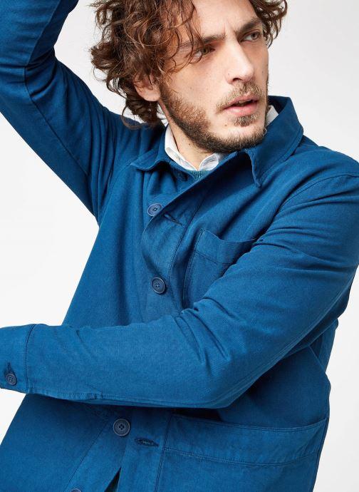 Tøj Cuisse de Grenouille JACKET - THICK TWILL Blå detaljeret billede af skoene