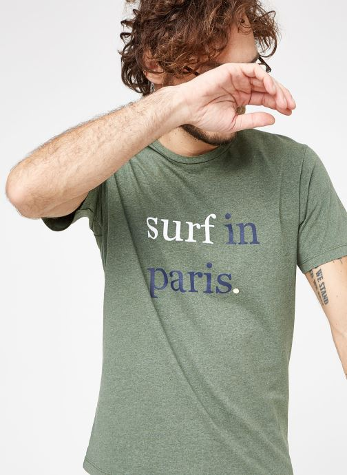d7ed75c0bc6ad Vêtements Cuisse de Grenouille TEE-SHIRT - SURF IN PARIS Vert vue  détail/paire