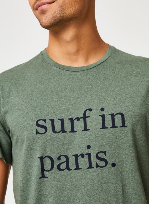 Vêtements Cuisse de Grenouille TEE-SHIRT - SURF IN PARIS Vert vue face