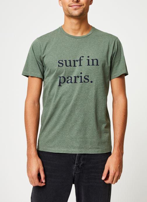 Kleding Cuisse de Grenouille TEE-SHIRT - SURF IN PARIS Groen detail