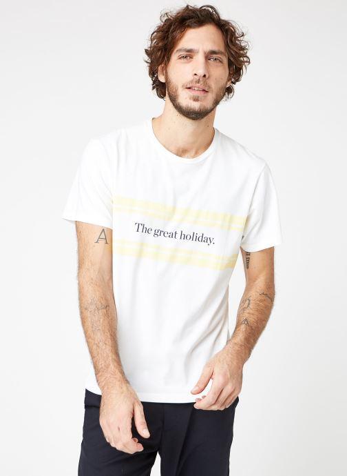 Vêtements Cuisse de Grenouille TEE-SHIRT - PRINT Blanc vue droite