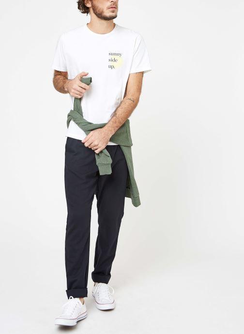 Vêtements Cuisse de Grenouille TEE-SHIRT - PRINT Blanc vue bas / vue portée sac
