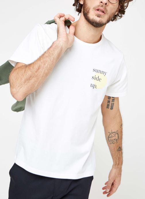 Vêtements Cuisse de Grenouille TEE-SHIRT - PRINT Blanc vue détail/paire