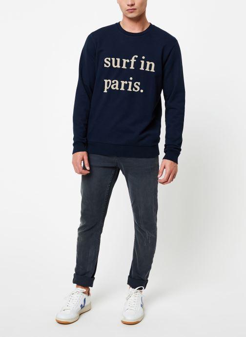 Vêtements Cuisse de Grenouille SWEATSHIRT - SURF IN PARIS Bleu vue bas / vue portée sac