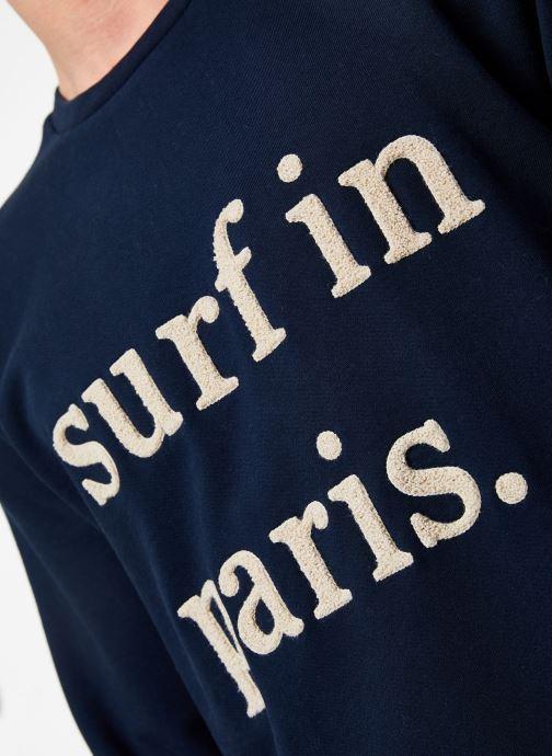 Vêtements Cuisse de Grenouille SWEATSHIRT - SURF IN PARIS Bleu vue face