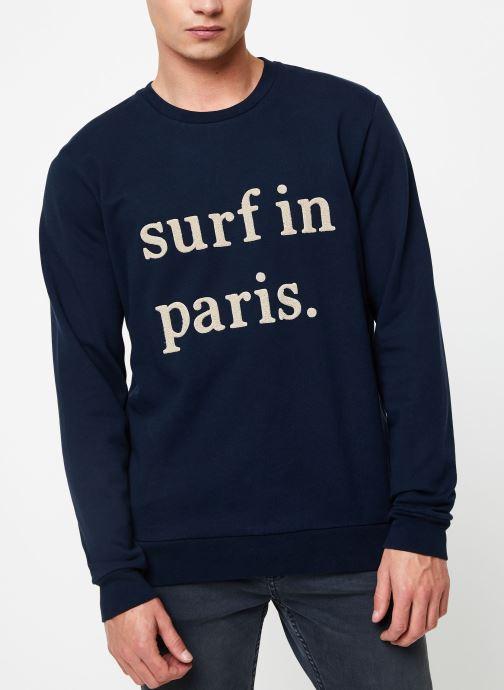 Vêtements Cuisse de Grenouille SWEATSHIRT - SURF IN PARIS Bleu vue droite