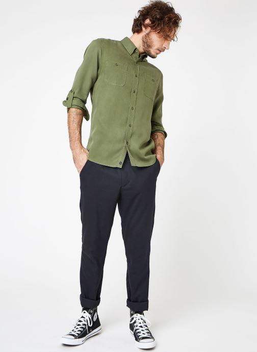 Vêtements Cuisse de Grenouille SHIRT - DENIM Vert vue bas / vue portée sac