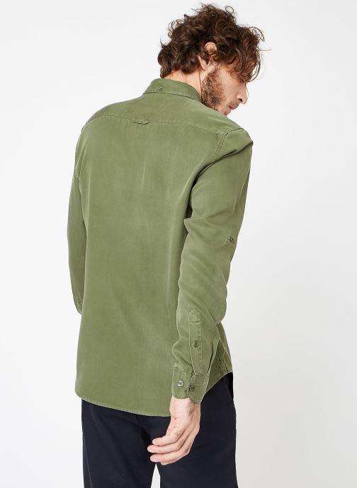 Vêtements Cuisse de Grenouille SHIRT - DENIM Vert vue portées chaussures