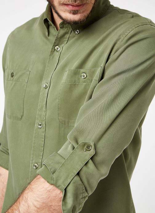 Vêtements Cuisse de Grenouille SHIRT - DENIM Vert vue face