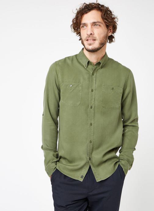 Vêtements Cuisse de Grenouille SHIRT - DENIM Vert vue droite
