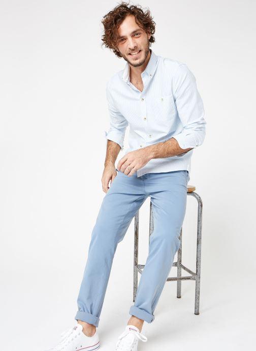 Vêtements Cuisse de Grenouille SHIRT - BUTTON DOWN + POCHE Bleu vue bas / vue portée sac