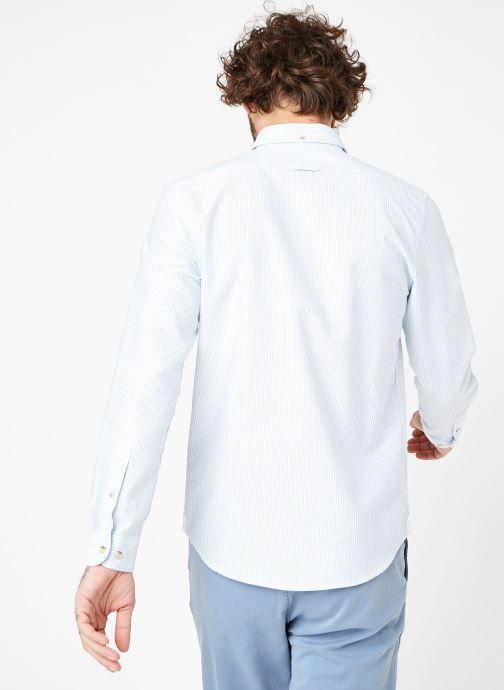 Vêtements Cuisse de Grenouille SHIRT - BUTTON DOWN + POCHE Bleu vue portées chaussures