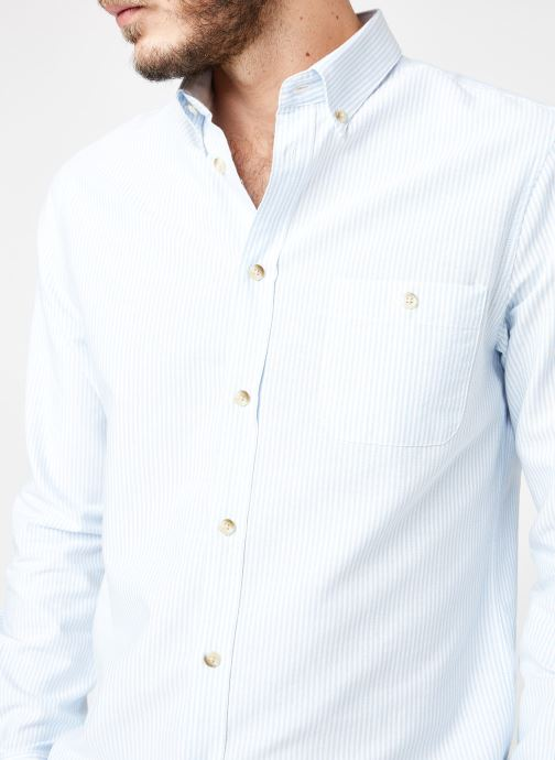 Vêtements Cuisse de Grenouille SHIRT - BUTTON DOWN + POCHE Bleu vue face