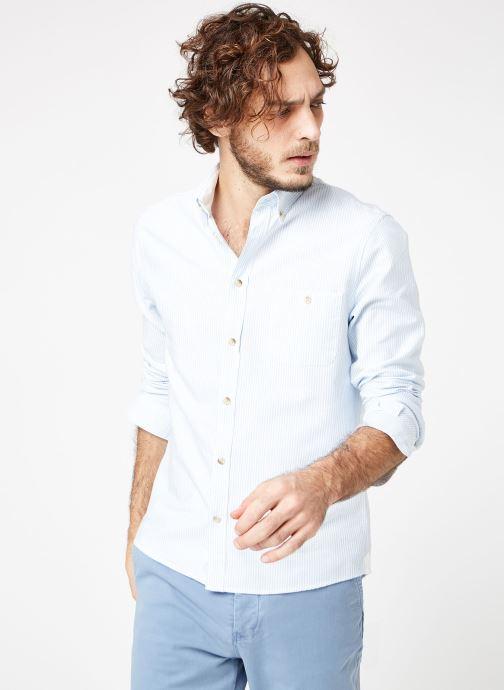 Vêtements Cuisse de Grenouille SHIRT - BUTTON DOWN + POCHE Bleu vue droite