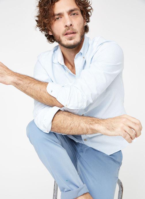 Vêtements Cuisse de Grenouille SHIRT - BUTTON DOWN + POCHE Bleu vue détail/paire
