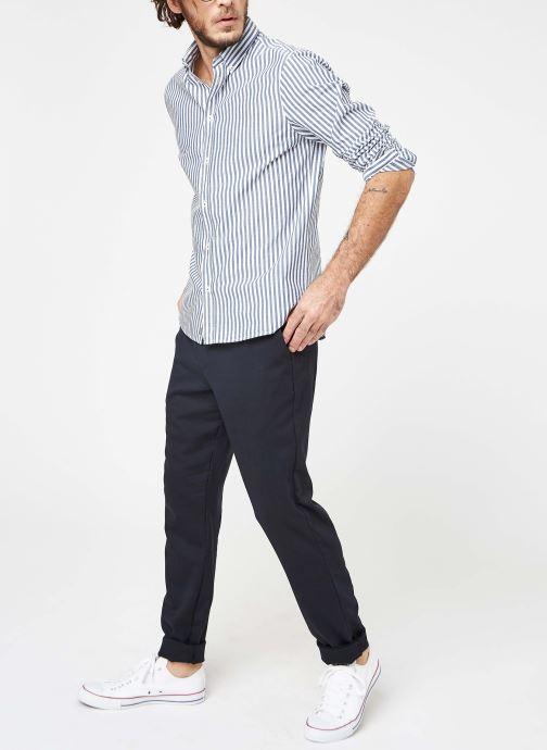 Vêtements Cuisse de Grenouille SHIRT - BUTTON DOWN CLASSIC Bleu vue bas / vue portée sac