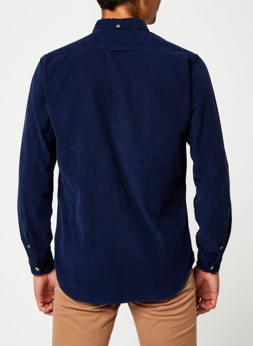 Vêtements Cuisse de Grenouille SHIRT - BUTTON DOWN CLASSIC Bleu vue portées chaussures