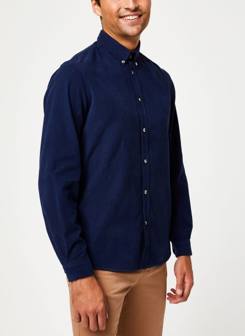Vêtements Cuisse de Grenouille SHIRT - BUTTON DOWN CLASSIC Bleu vue droite