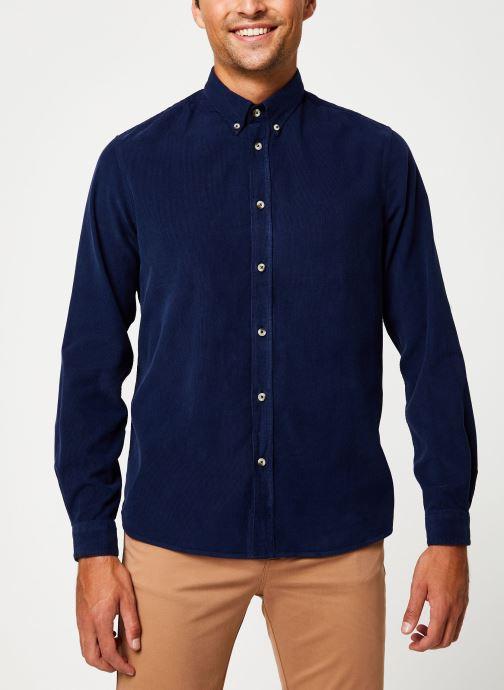 Vêtements Cuisse de Grenouille SHIRT - BUTTON DOWN CLASSIC Bleu vue détail/paire