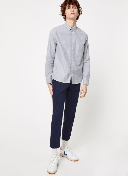 Vêtements Cuisse de Grenouille SHIRT - BUTTON DOWN CLASSIC Gris vue bas / vue portée sac
