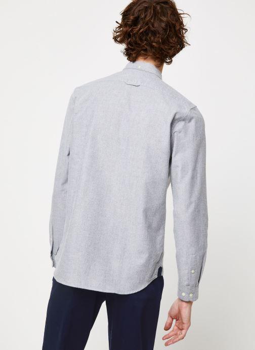 Vêtements Cuisse de Grenouille SHIRT - BUTTON DOWN CLASSIC Gris vue portées chaussures