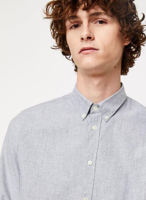 Vêtements Cuisse de Grenouille SHIRT - BUTTON DOWN CLASSIC Gris vue face