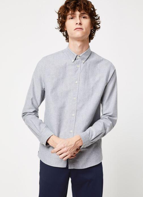 Vêtements Cuisse de Grenouille SHIRT - BUTTON DOWN CLASSIC Gris vue droite