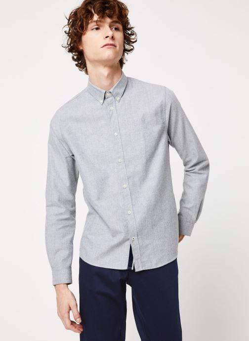 Vêtements Cuisse de Grenouille SHIRT - BUTTON DOWN CLASSIC Gris vue détail/paire