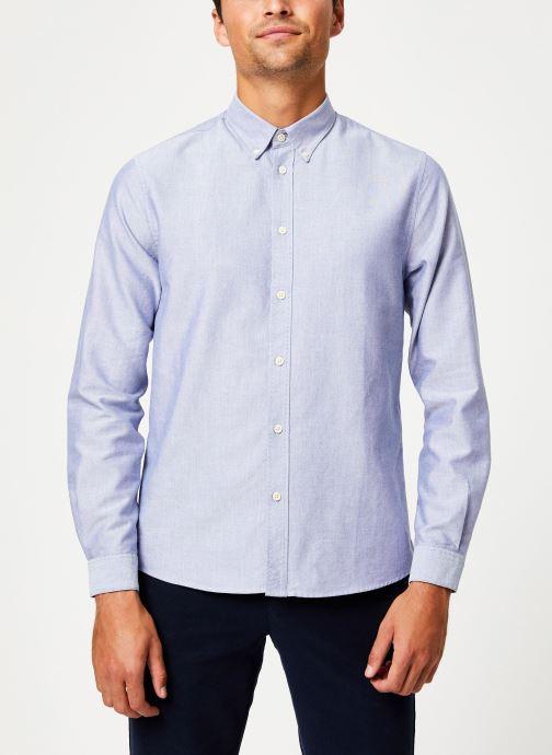 Tøj Cuisse de Grenouille SHIRT - BUTTON DOWN CLASSIC Blå detaljeret billede af skoene