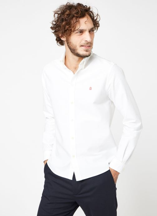 Chez Cuisse Down Grenouille De blanc Shirt Vêtements Maison 370149 Button TcT14Srq
