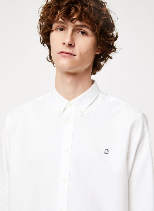 Vêtements Cuisse de Grenouille SHIRT - BUTTON DOWN + MAISON Blanc vue face
