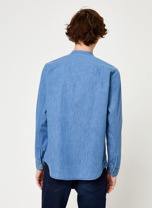 Vêtements Cuisse de Grenouille SHIRT - MAO Bleu vue portées chaussures