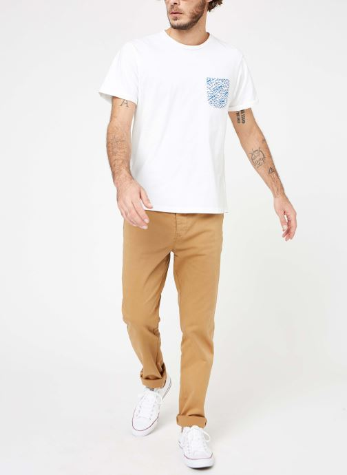 Vêtements Cuisse de Grenouille TEE-SHIRT - VAGUE POCKET Blanc vue bas / vue portée sac