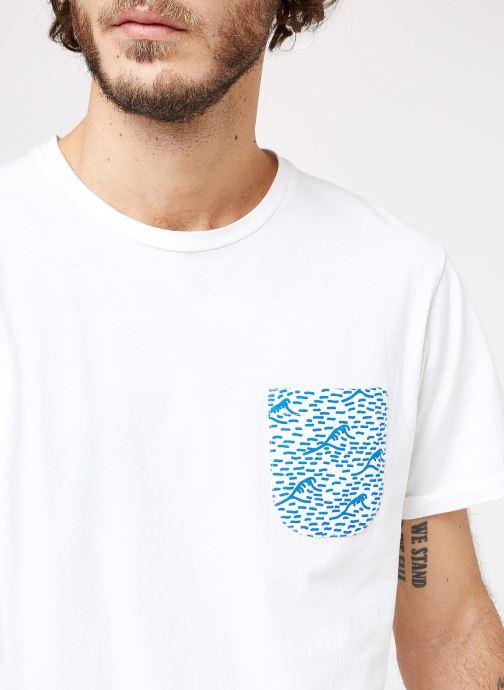 Vêtements Cuisse de Grenouille TEE-SHIRT - VAGUE POCKET Blanc vue face