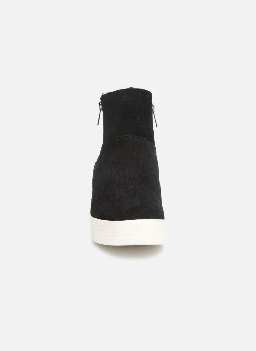 Bottines et boots Steve Madden Wanda Wedge Sneaker Noir vue portées chaussures