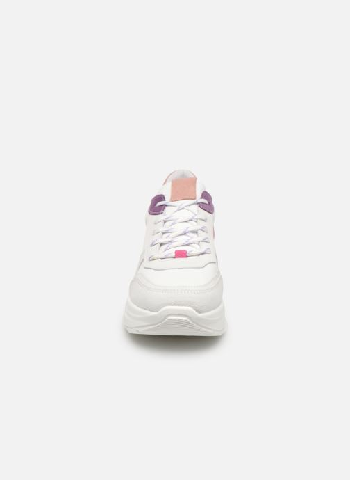 Baskets Steve Madden Zela Blanc vue portées chaussures