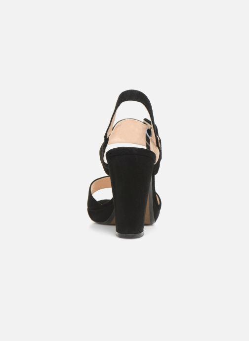 Sandales et nu-pieds Georgia Rose Lybocla Noir vue droite