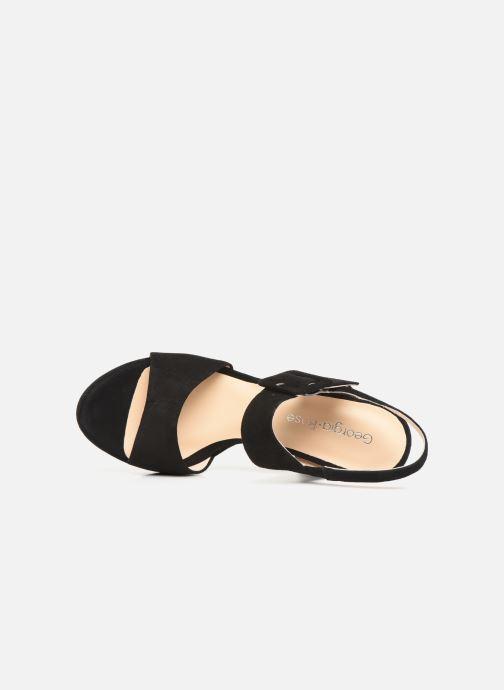 Sandales et nu-pieds Georgia Rose Lybocla Noir vue gauche