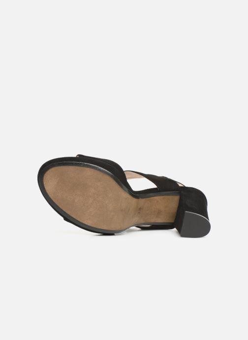 Sandales et nu-pieds Georgia Rose Lybocla Noir vue haut
