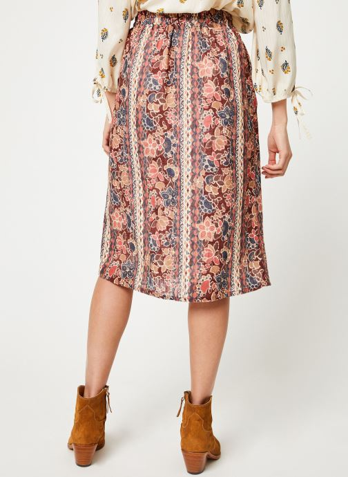 Vêtements Louizon Jupe Bacall Multicolore vue portées chaussures