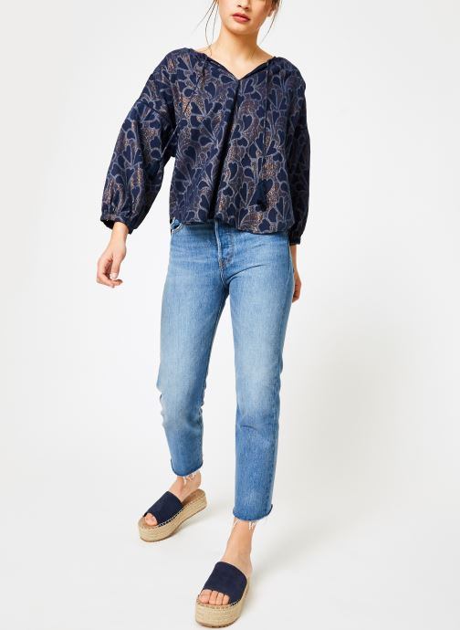 Vêtements Louizon Top Baya Bleu vue bas / vue portée sac