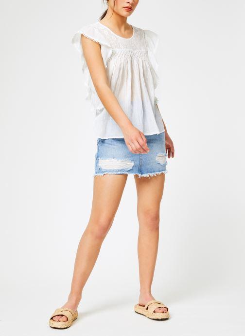 Vêtements Louizon Top Gypset Blanc vue bas / vue portée sac