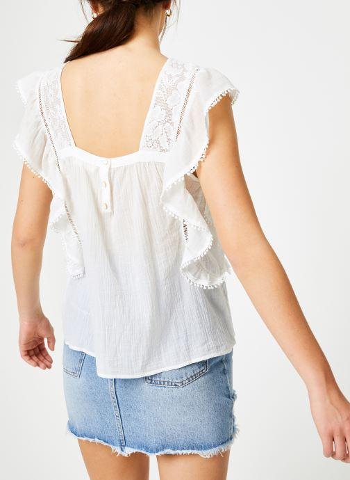 Vêtements Louizon Top Gypset Blanc vue portées chaussures