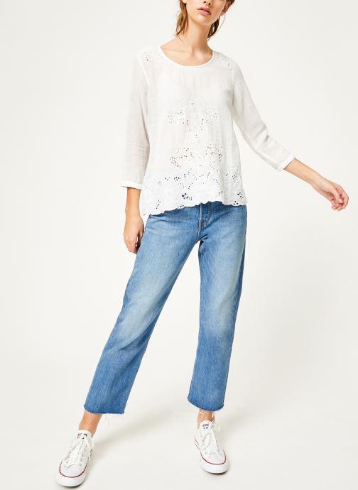 Vêtements Louizon Top Aquarius Blanc vue bas / vue portée sac